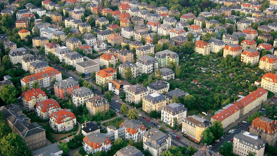 Dresden-Striesen aus der Luft